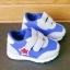 รองเท้าคัชชูเด็กเล็ก สีฟ้าเทาดาวแดง Sport ผ้าตาข่ายฟองน้ำนิ่ม (เท้ายาว 10-12.5 ซม.) thumbnail 7