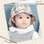 HT472••หมวกเด็ก•• / หมวกปีกกว้าง-ลายสก็อต burberry (สีครีม) thumbnail 2