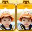 HT481••หมวกเด็ก•• / หมวกปีกกว้าง-กระต่าย (สีส้ม) thumbnail 2