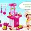 ของเล่นชุดเคาน์เตอร์ครัวพร้อมอุปกรณ์ทำอาหารสำหรับคุณหนูครบเซต สีชมพูสวยหวาน thumbnail 2