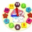 ของเล่นไม้ นาฬิกา บล็อคตัวเลขและรูปทรง Multicolor Brick Clock thumbnail 5