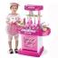 ของเล่นชุดเคาน์เตอร์ครัวพร้อมอุปกรณ์ทำอาหารสำหรับคุณหนูครบเซต สีชมพูสวยหวาน thumbnail 1
