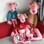 ตุ๊กตาพิงค์แพนเตอร์สวมเสื้อฮู้ด Pink Panther 160 cm thumbnail 1