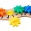 จิ๊กซอตัวหนอนจับคู่สี สร้างเฟืองหมุนต่อกัน Rainbow Caterpilar Gear Toy thumbnail 4