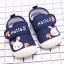 รองเท้าคัชชูเด็กเล็ก สีน้ำเงินลายกระต่าย (เท้ายาว 10-13 ซม.) thumbnail 3