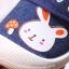 รองเท้าคัชชูเด็กเล็ก สีน้ำเงินลายกระต่าย (เท้ายาว 10-13 ซม.) thumbnail 6