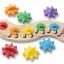 จิ๊กซอตัวหนอนจับคู่สี สร้างเฟืองหมุนต่อกัน Rainbow Caterpilar Gear Toy thumbnail 3