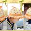 HT481••หมวกเด็ก•• / หมวกปีกกว้าง-กระต่าย (สีส้ม) thumbnail 5