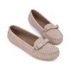 รองเท้าโลฟเฟอร์ หนังวัวแท้ สีเทา - KR0353