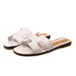 [พร้อมส่ง] ไซส์ 42 รองเท้าแตะไซส์ใหญ่ สไตล์ H สีขาว KR0390