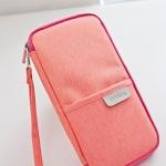 กระเป๋าใส่พาสปอร์ต กระเป๋าใส่เอกสารการเดินทาง เอกสารสำคัญ อเนกประสงค์ พิเศษมีสายคล้องมือ พกพาสะดวก ผลิตจากโพลีเอสเตอร์ กันน้ำ คุณภาพดี