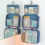 กระเป๋าใส่อุปกรณ์ห้องน้ำ ใส่อุปกรณ์เครื่องสำอาง แขวนได้ สำหรับเดินทาง ท่องเที่ยว พกพาสะดวกมี 4 สี 4 ลายให้เลือก