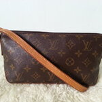 Authentic Louis Vuitton Monogram Canvas Trotteur Bag