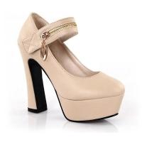 ** ไซส์ 42 43 ** รองเท้าส้นสูง 5 นิ้ว สีเบจ ไซส์ใหญ่ นำเข้าเกาหลี หนัง PU อย่างดี งานเป๊ะมาก รองเท้าส้นสูงไซส์ใหญ่ นำเข้าเกาหลี