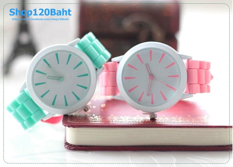 นาฬิกาหน้าปัดเรียบๆ สีสวยๆ หวานๆ สำหรับวัยรุ่น