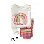 ชุดนอน Size 3T สำหรับเด็ก 2-3ขวบ ลายสกรีนเรนโบว์ ผ้ายืดใส่สบาย