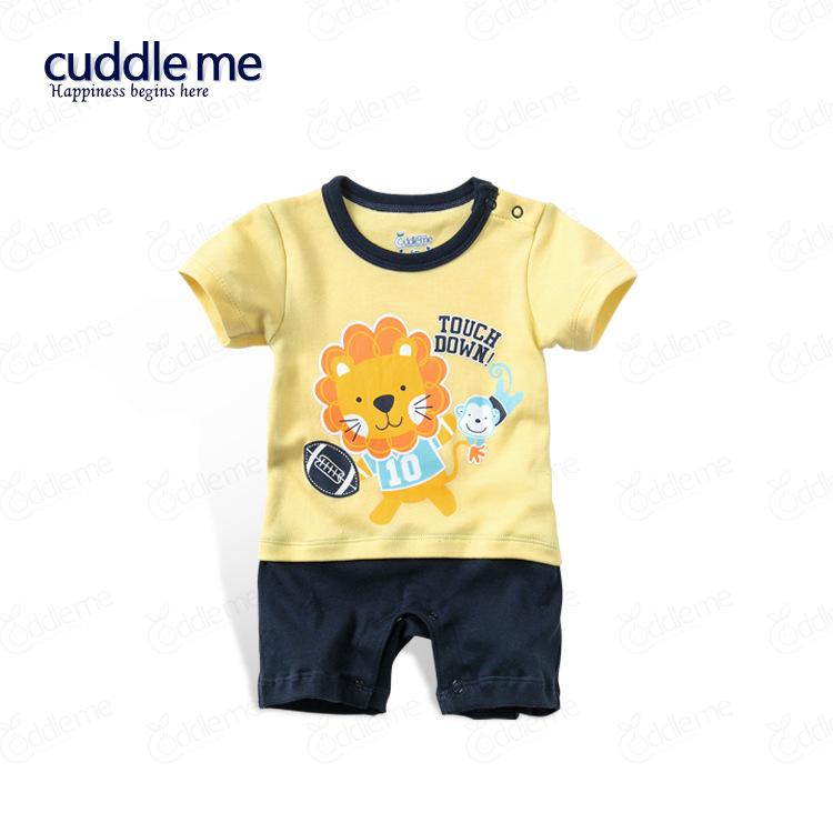 ชุดจั๊มสูทเด็ก Cuddle me ลายสิงโต สีเหลืองสลับดำ