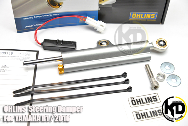 OHLINS SD 047 Steering Damper For YAMAHA R1 , R1M / 2016 มาพร้อม Resistor connection