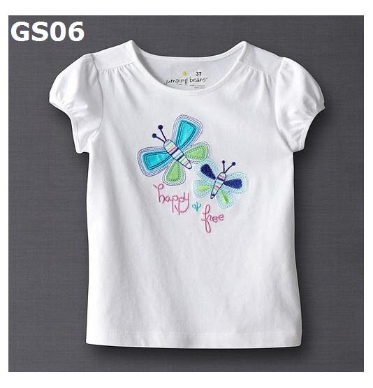 (GS06) เสื้อยืดแขนสั้น (Size 2T, 3T, 4T) ผ้าคอตตอนเนื้อดี นิ่ม ใส่สบาย