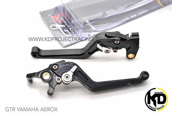 GTR มือเบรก R+L Black สีดำ For YAMAHA AEROX