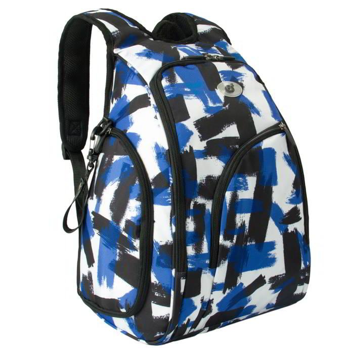 Ecosusi กระเป๋าสัมภาระคุณแม่ แบบเป้ มาพร้อมแผ่นรองเปลี่ยนผ้าอ้อม, สายคล้องรถเข็น, ช่องเก็บความร้อน-เย็น (Navy Patten)