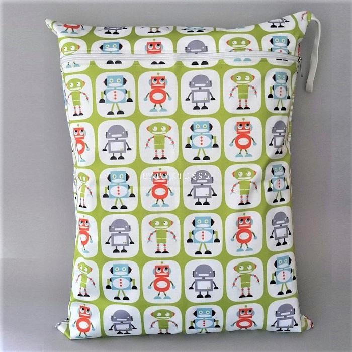 ถุงผ้ากันน้ำ 1 ช่อง Size: L (หูยางยืด) i5 -Robot
