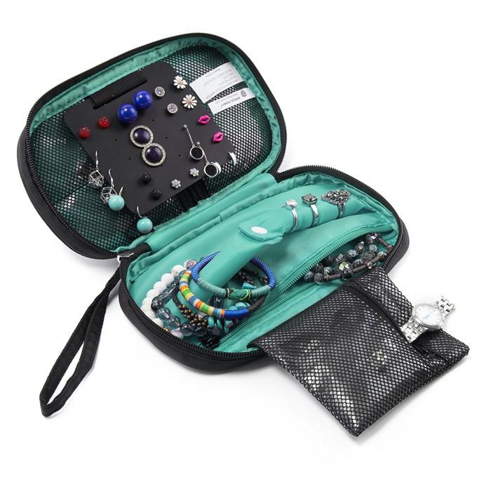 กระเป๋าใส่เครื่องประดับ จัดเก็บสร้อยข้อมือ ต่างหู แหวน สร้อยคอ กำไล นาฬิกา คุณภาพสูง (Green)