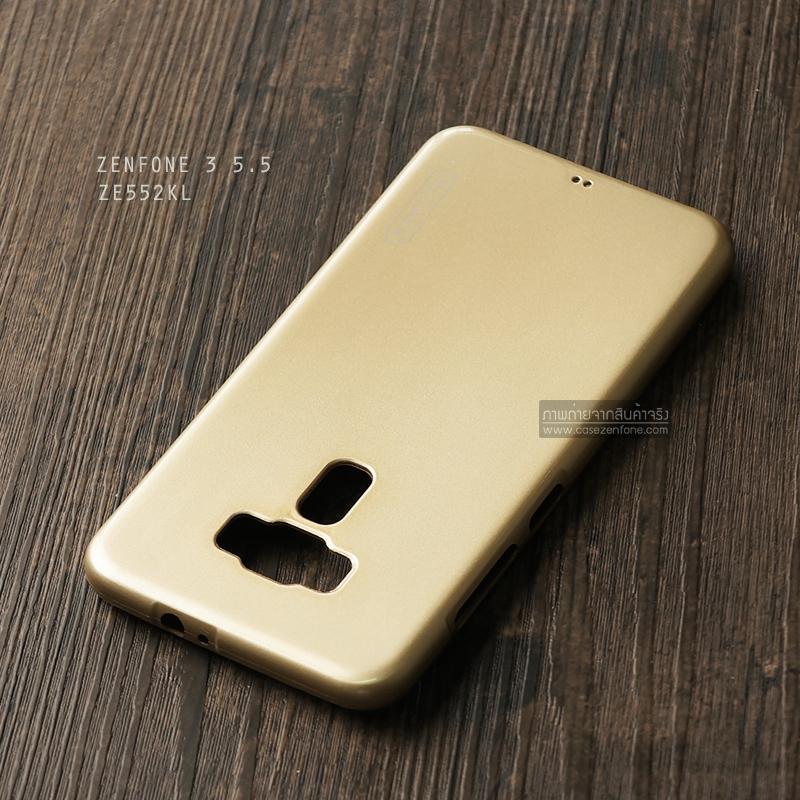 เคส Zenfone 3 (ZE552KL) 5.5 นิ้ว เคสนิ่มผิวเงา (MY COLORS) สีทอง