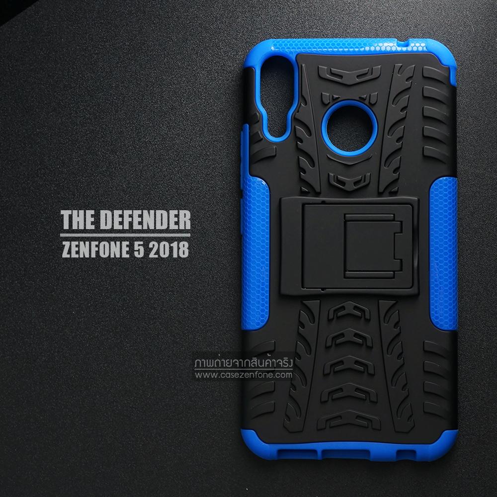 เคส Zenfone 5 ( ZE620KL ) กรอบบั๊มเปอร์ กันกระแทก Defender สีน้ำเงิน (เป็นขาตั้งได้)