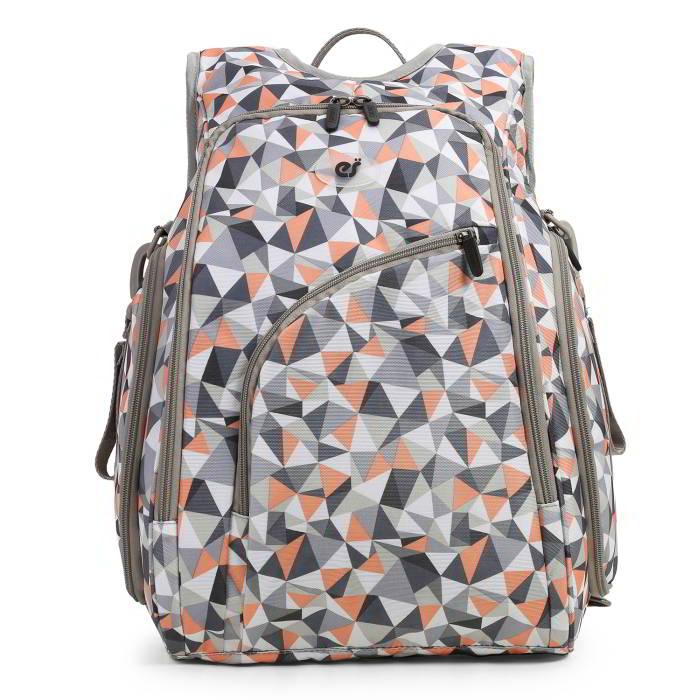 Ecosusi กระเป๋าสัมภาระคุณแม่ แบบเป้ มาพร้อมแผ่นรองเปลี่ยนผ้าอ้อม, สายคล้องรถเข็น, ช่องเก็บความร้อน-เย็น (Light Orange)