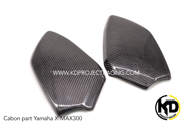 Yamaha X-MAX300 งานหุ้ม Carbon ฝากระเป๋า R+L