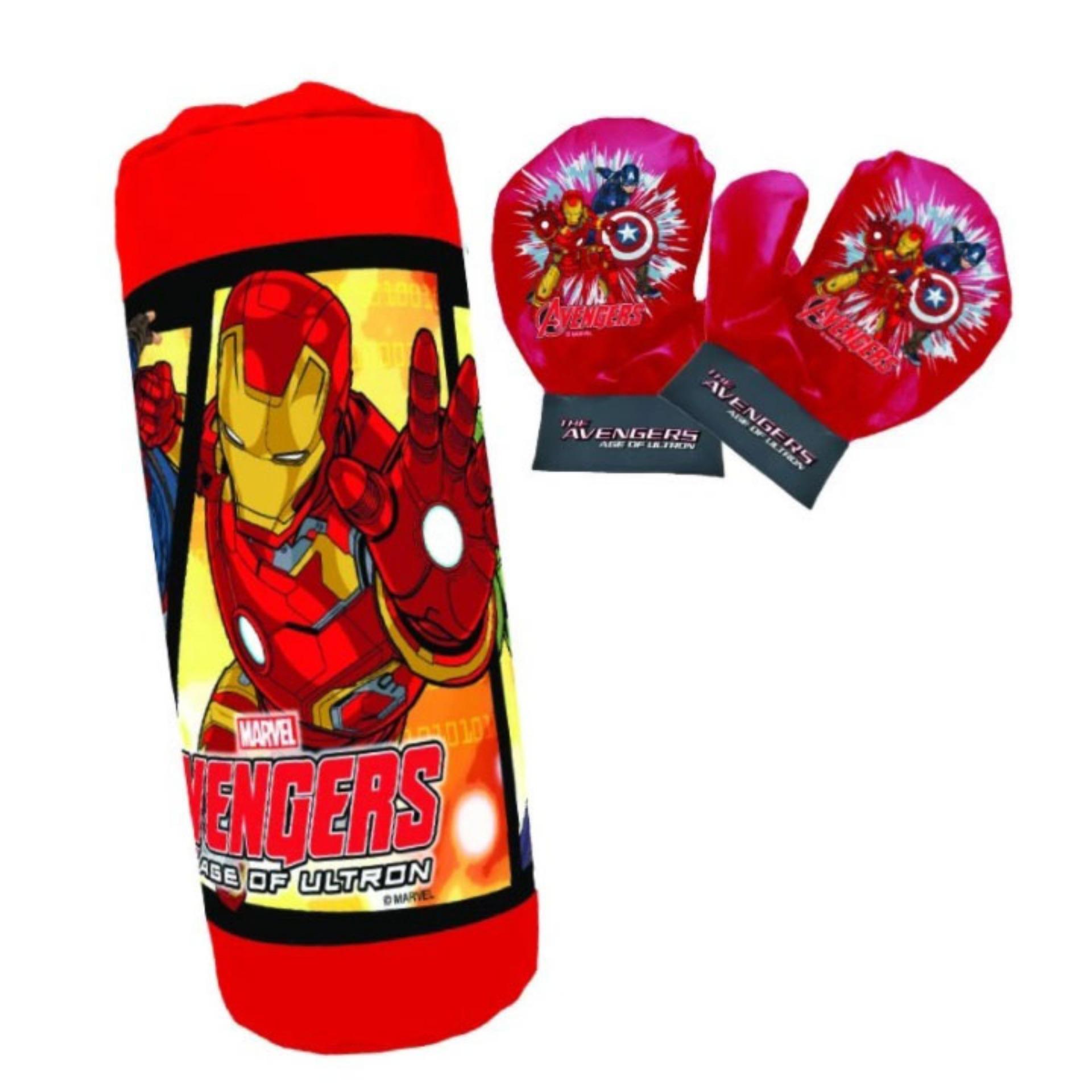 ชุดต่อยมวยของเล่น Marvel นวมเด็ก+กระสอบทราย ลิขสิทธิ์แท้