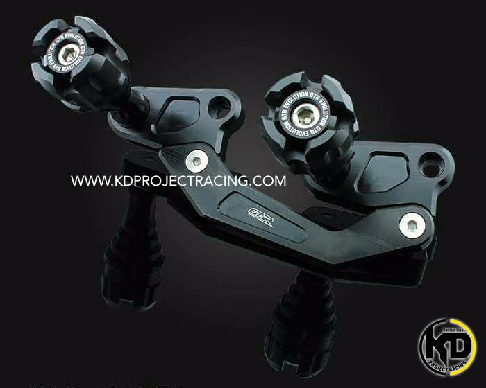 ชุดกันล้มข้างท่อไอเสีย GTR Yamaha Nmax / Airrox สีดำ