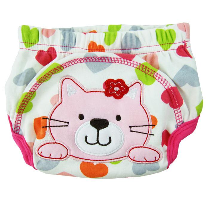 กางเกงผ้าอ้อมซับฉี่เด็ก Training Pant ลายแมว size 80 90 100