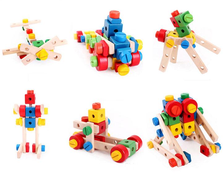 ของเล่นไม้ ชุดประกอบ เครื่องบิน รถ หุ่นยนต์ และอื่นๆ เสริมสร้างพัฒนาการ