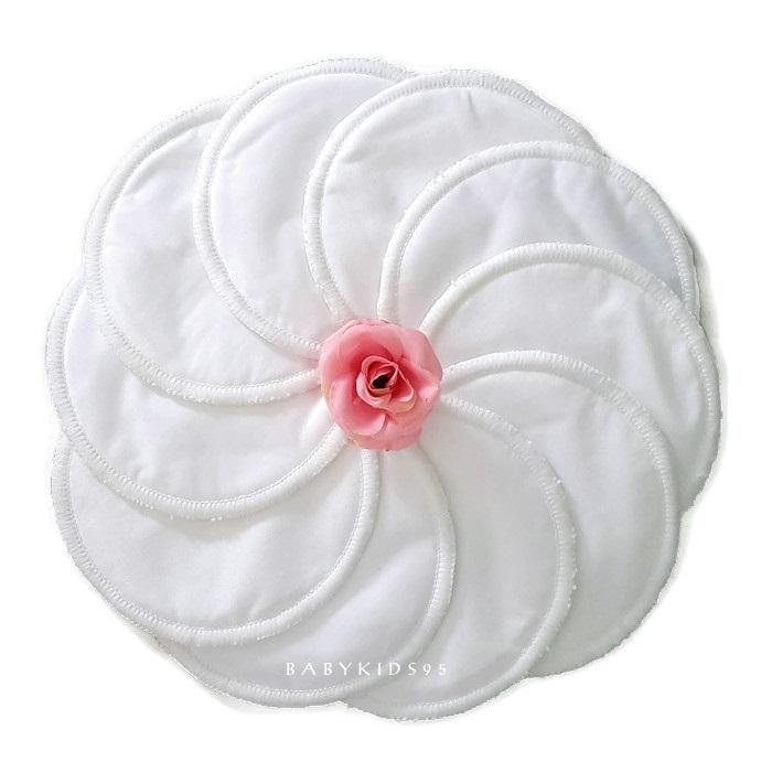 แผ่นซับน้ำนม กันน้ำ ซักได้ 10 ชิ้น (White)