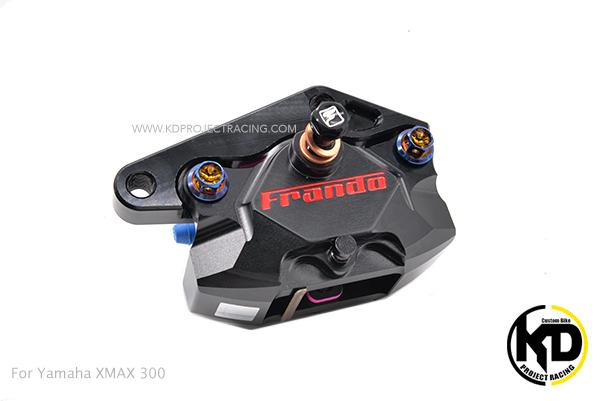 ชุดปั้มเบรกหลัง สีดำ FRANDO Racing + ขายึดจาน for Yamaha XMAX 300