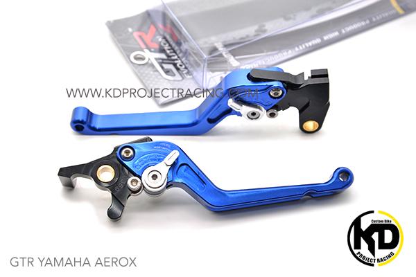 GTR มือเบรก R+L Blue สีน้ำเงิน For YAMAHA AEROX