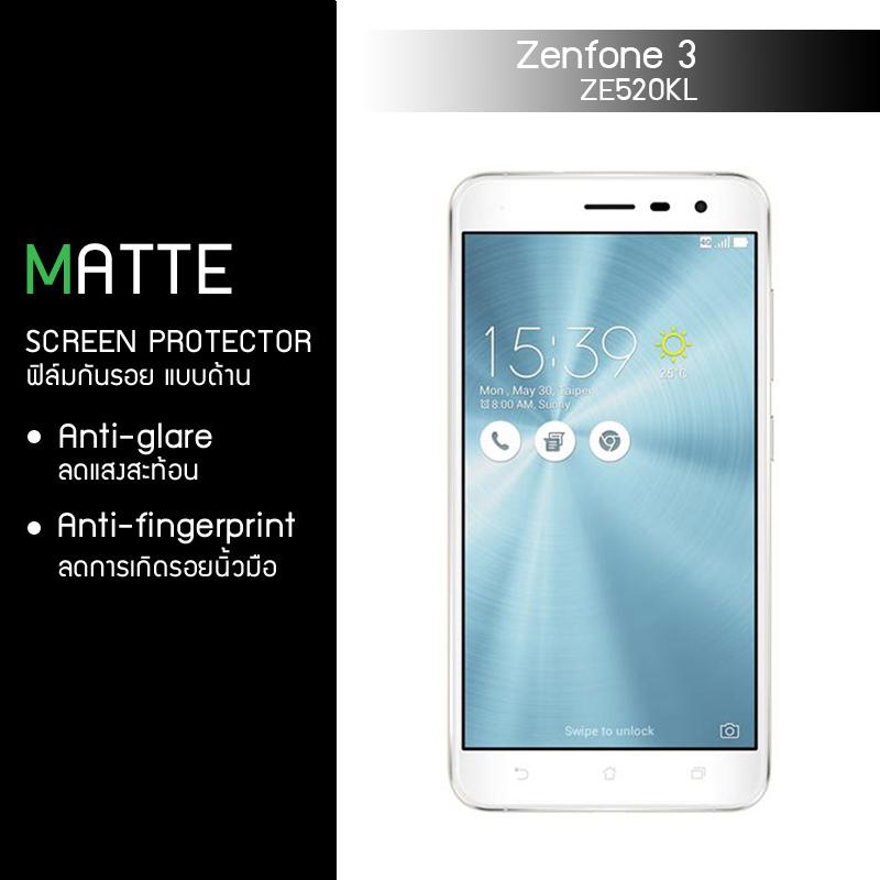 """ฟิล์มกันรอย Zenfone 3 5.2"""" นิ้ว (ZE520KL) แบบด้าน"""