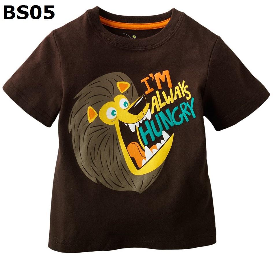 (BS05) เสื้อยืดแขนสั้น ไซส์ 2T เนื้อผ้าดีมาก หนา และนิ่มสุดๆ สำหรับเด็กอายุประมาณ 2-3ขวบ