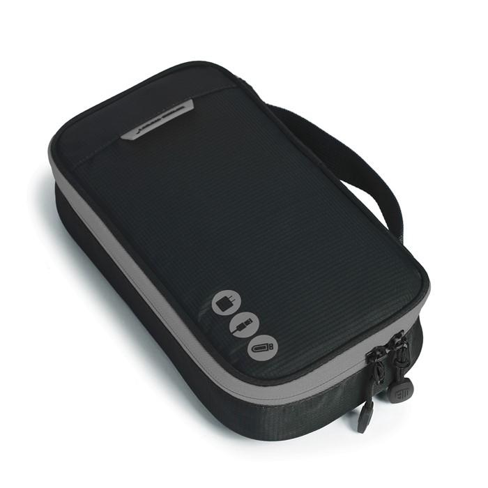 กระเป๋าใส่อุปกรณ์อิเล็กทรอนิกส์ สำหรับใส่อุปกรณ์ไอทีทุกชนิด มีสองชั้น ช่องเยอะพิเศษ มีหูหิ้วพกพาสะดวก (ดำ-เทา)