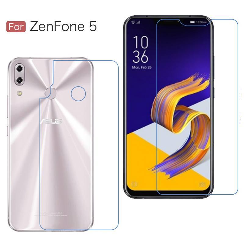 (แพ็คคู่) ฟิล์มกันรอย Zenfone 5 (ZE620KL) แบบใส วัสดุ TPU (ด้านหน้า - หลัง)