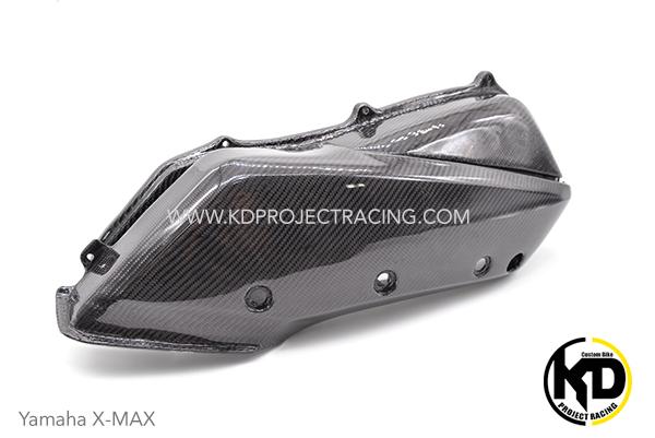 ครอบกรอง 2 ชิ้น Yamaha X-MAX300 งานหุ้ม Carbon แบบเงา