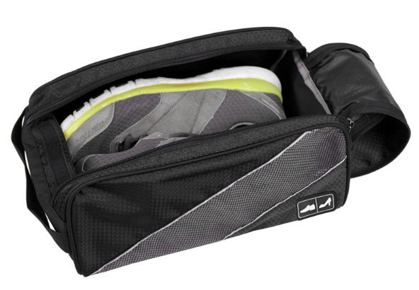 กระเป๋าใส่รองเท้ากันน้ำ สำหรับเดินทาง เล่นกีฬา ผลิตจากโพลีเอสเตอร์คุณภาพสูง เบา ทนทาน