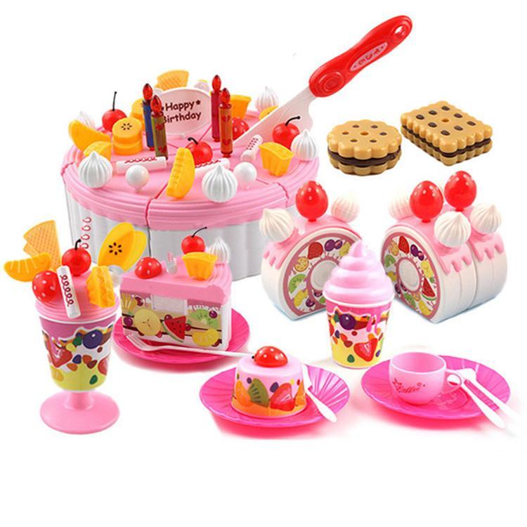 ชุดของเล่นตกแต่งเค้กผลไม้ พร้อมอุปกรณ์ 73 ชิ้น - Luxury Fruit Cake