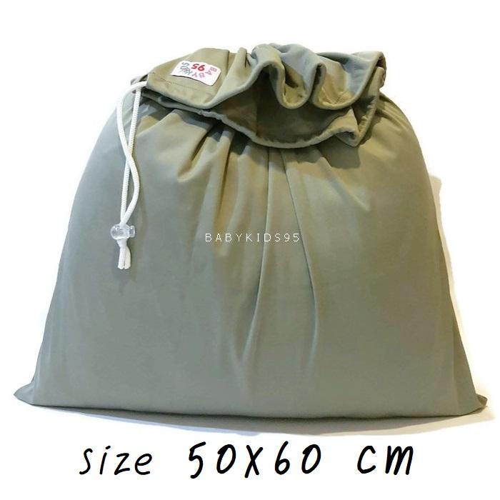 ถุงผ้ากันน้ำ Jumbo Size XXL (50*60 cm) i8 -Gray