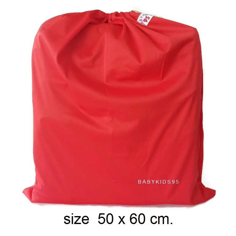 ถุงผ้ากันน้ำ Jumbo Size XXL (50*60 cm) i8 -Red