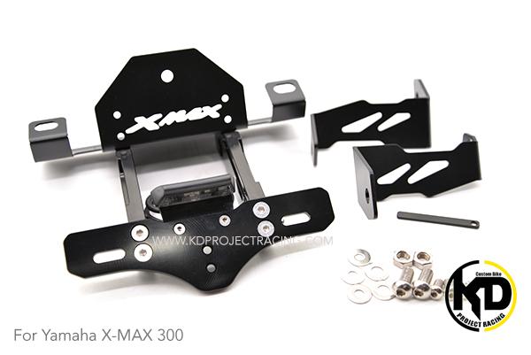 ท้ายสั้น CNC มีไฟส่องป้าย LED Yamaha X-MAX 300