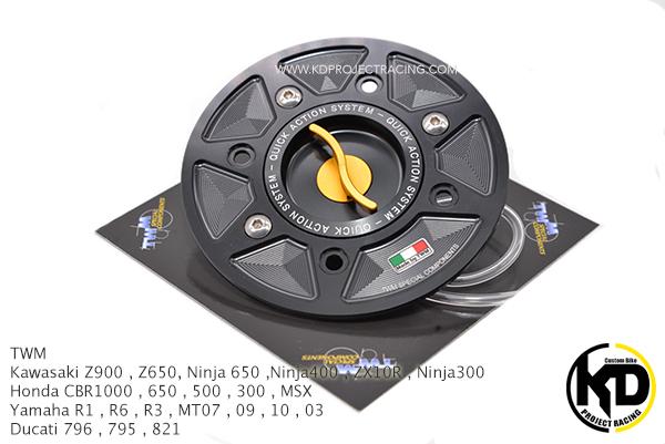 TWM Italy แท้ ฝาถังน้ำมัน Yamaha MT09 , 07 , 03 , R3 , R6