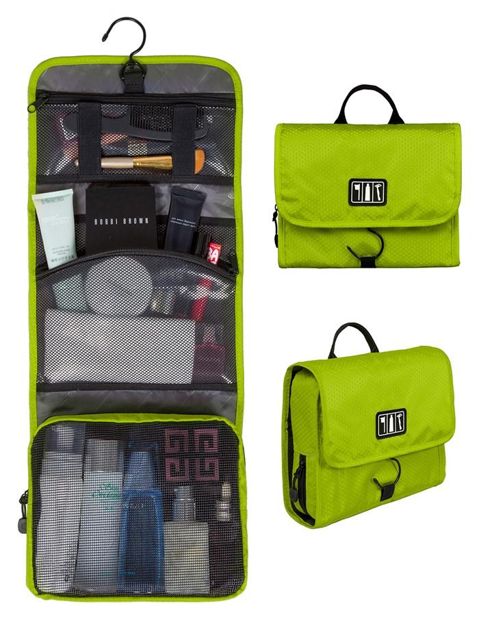 กระเป๋าใส่อุปกรณ์อาบน้ำ คุณภาพสูง ใส่อุปกรณ์อาบน้ำ แขวนได้ สำหรับเดินทาง ท่องเที่ยว (สีเขียว)